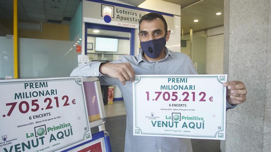 L'administració de loteria de l'estació de tren de Girona reparteix 1,7 milions d'euros