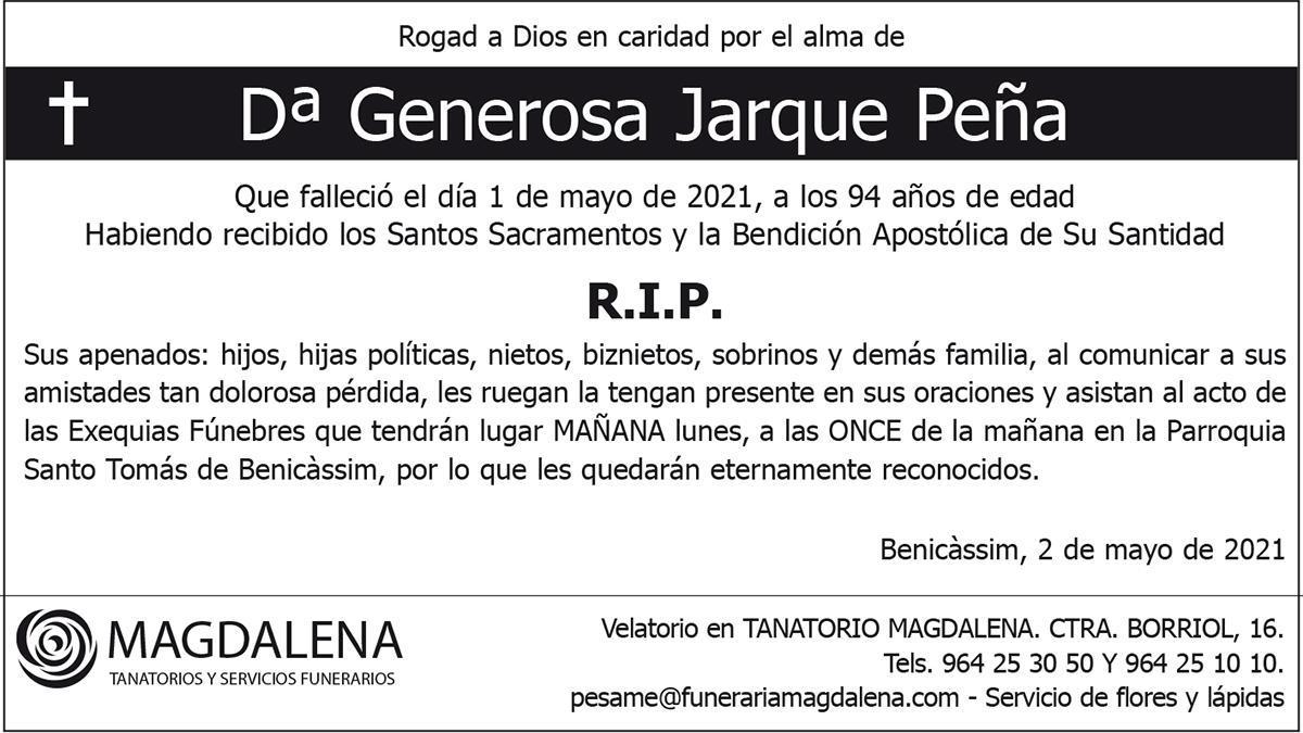 Dª Generosa Jarque Peña