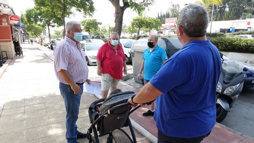 El PSOE pide al Ayuntamiento de Málaga un plan de choque de limpieza en el distrito de Churriana