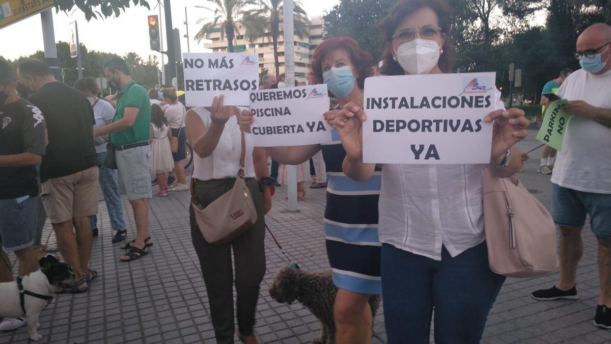 Protesta del Consejo de Distrito Sur.
