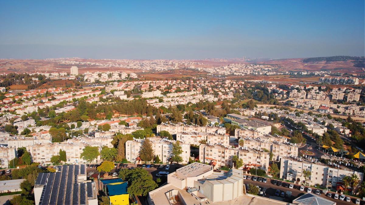 Vista aérea de Givat Zeev.