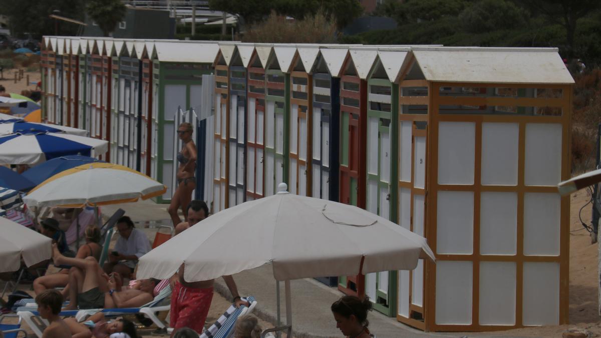Pla general dels Banys de S'Agaró aquest dissabte 31 de juliol de 2021. (Horitzontal)