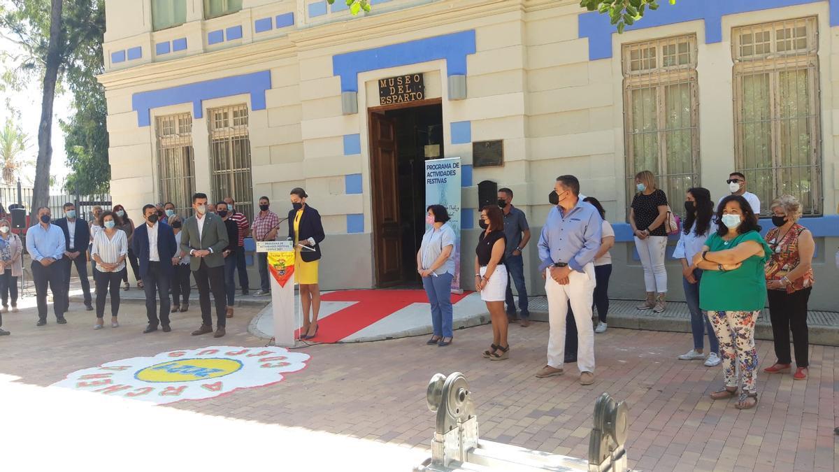 La alcaldesa, Patricia Fernández,  en la presentación del programa  de las fiestas de este año.