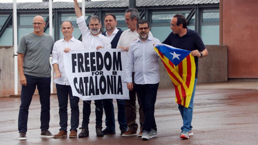 Govern i Parlament rebran en dos actes dilluns a la tarda els nou líders independentistes indultats