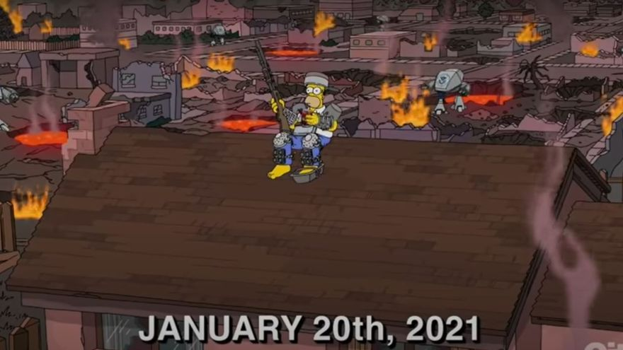 'Los Simpsons' predicen el fin del mundo para hoy 20 de enero de 2021