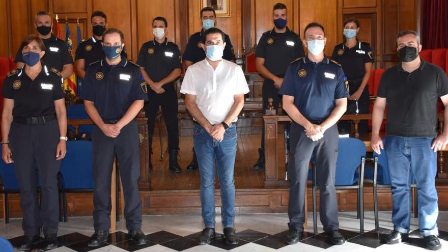 Toma de posesión de seis agentes y dos oficiales de la Policía Local de Alcoy