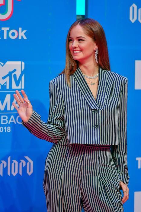 La actriz norteamericana Debby Ryan. (Photo by ANDER GILLENEA / AFP)