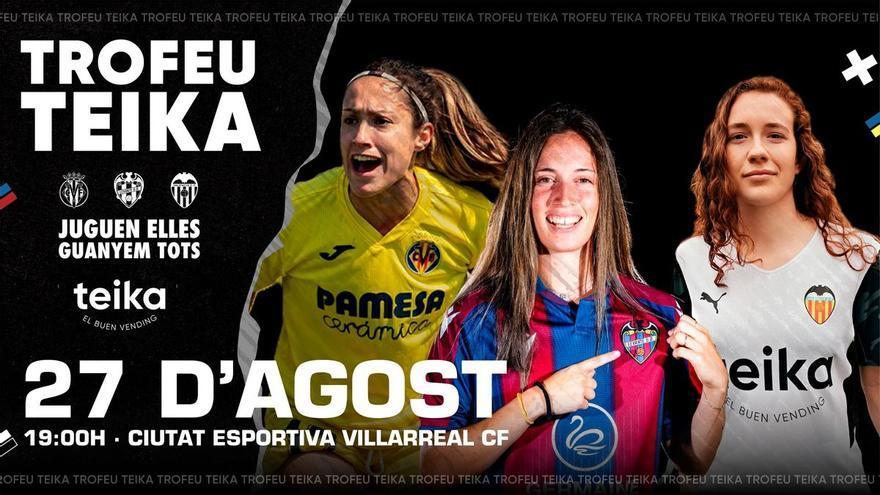 Los 3 equipos valencianos de la Liga Ellas se enfrentan en el primer Trofeu Teika