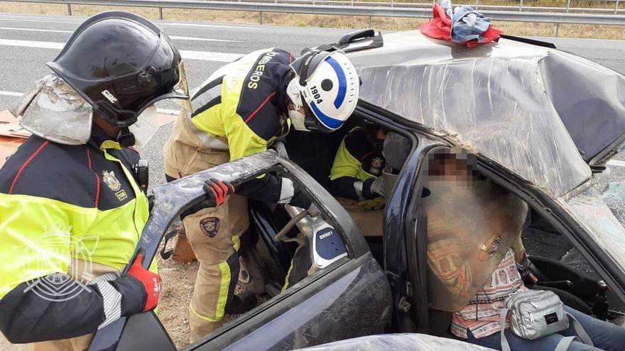 Dos personas heridas tras sufrir un accidente en Villalmanzo (Burgos)