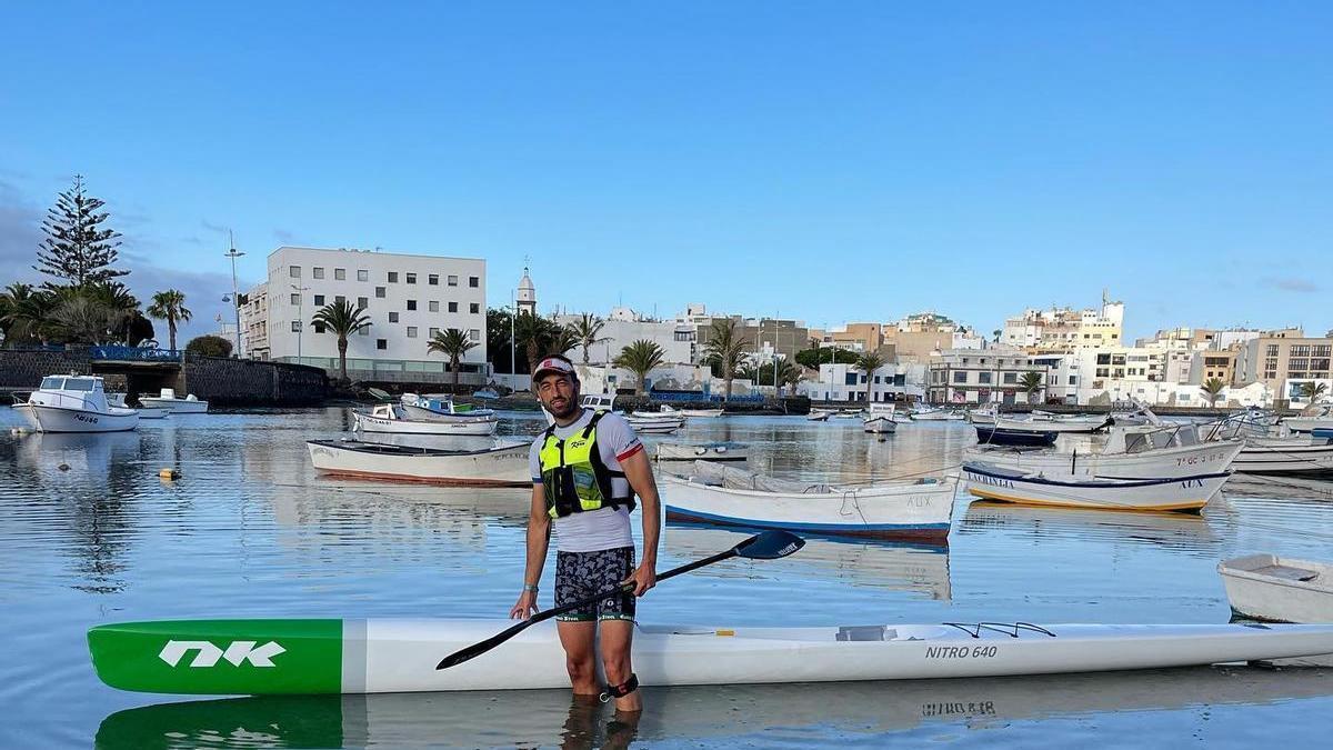 Bouzán en Lanzarote, días atrás.
