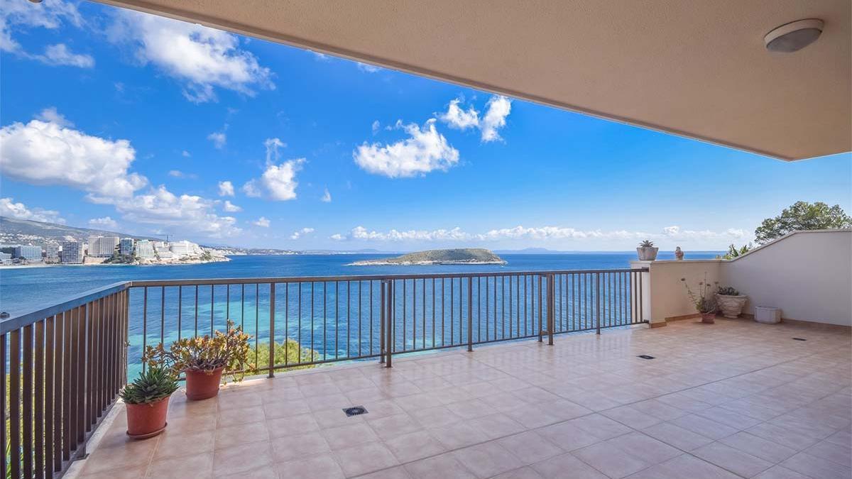Una de las viviendas en venta en San Agustín (Mallorca) que ofrece Fastighetsbyrån