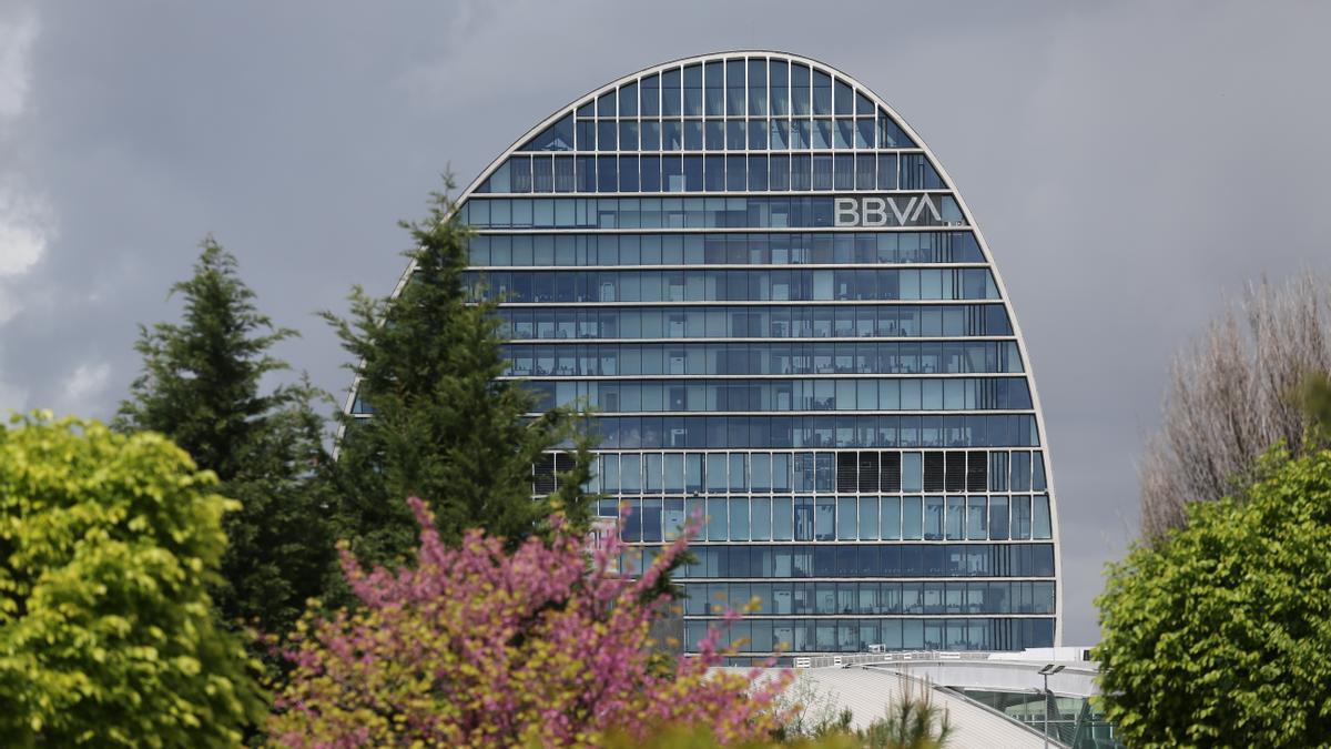 La sede del BBVA en Madrid.