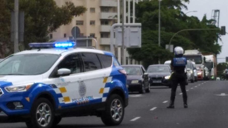 Un accidente en la salida de Santa Cruz de Tenerife provoca retenciones