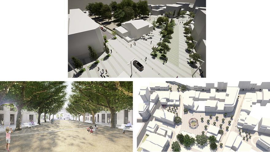 A Estrada expondrá desde hoy en la web las tres opciones de diseño de la Praza da Feira