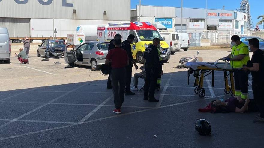 Una revisión en la ITV acaba en accidente y con dos heridos
