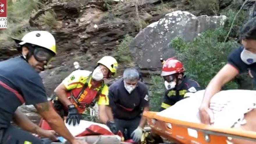 Las espectaculares imágenes del rescate de un joven en Cirat