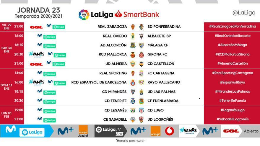 El Girona visitarà el Mallorca el dissabte 30 de gener (20.30)
