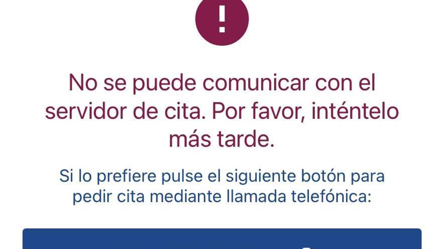 La avalancha de peticiones para vacunarse colapsa la web del SMS