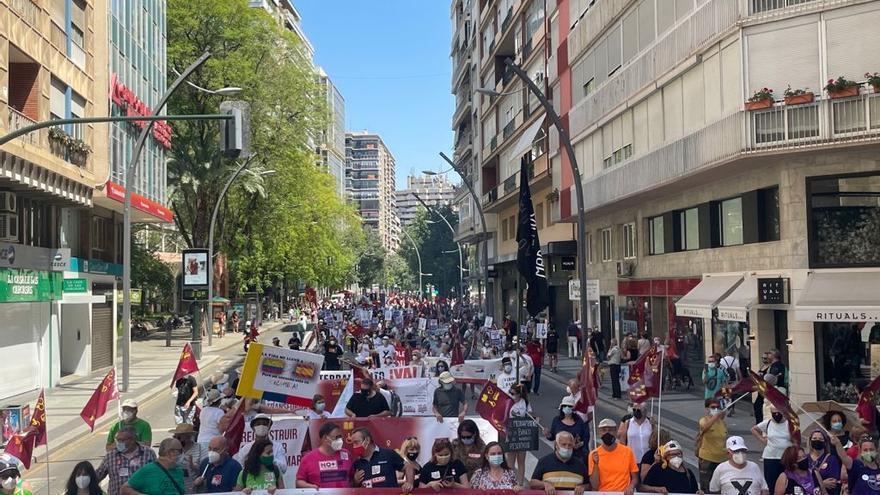 Las Marchas de la Dignidad toman la Gran Vía para celebrar su particular Día de la Región