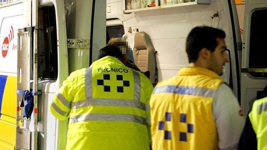Grave un motorista tras chocar contra una guagua en Escaleritas