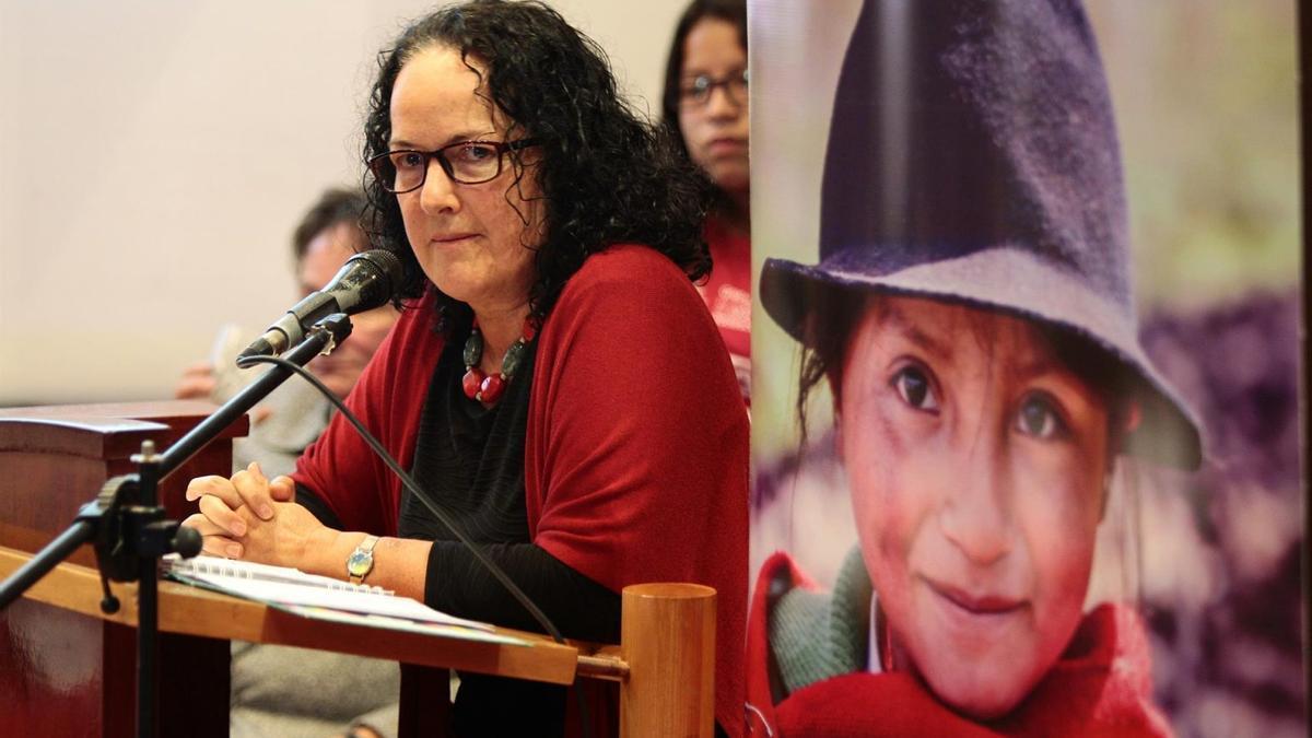 En la imagen, Rossana Viteri, directora de Plan International Ecuador.