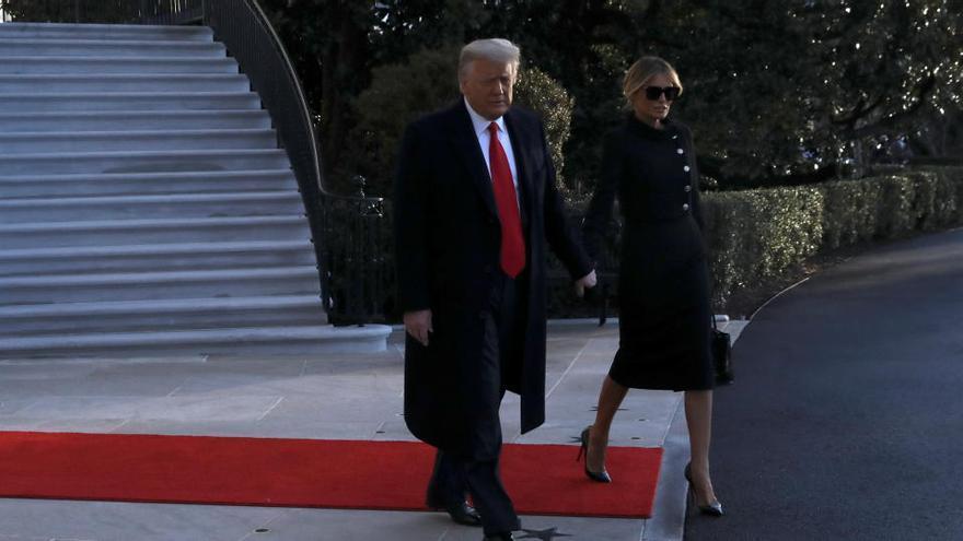 Trump abandona la Casa Blanca horas antes de la investidura de Biden