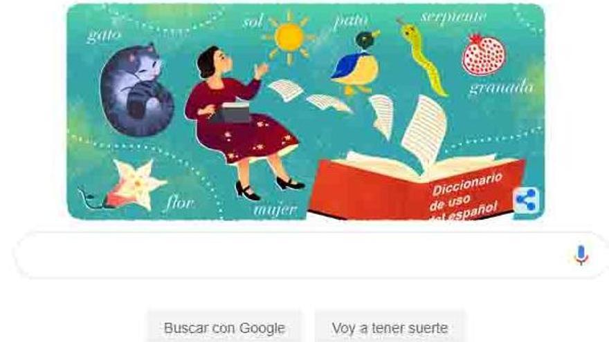 Google conmemora el 119 aniversario de María Moliner