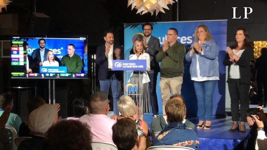 Noche electoral del 10N en el Partido Popular de Canarias