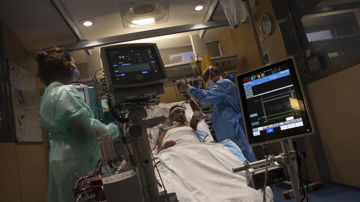 Un paciente con covid