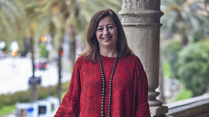 Francina Armengol protagoniza un acto informativo de Levante-EMV