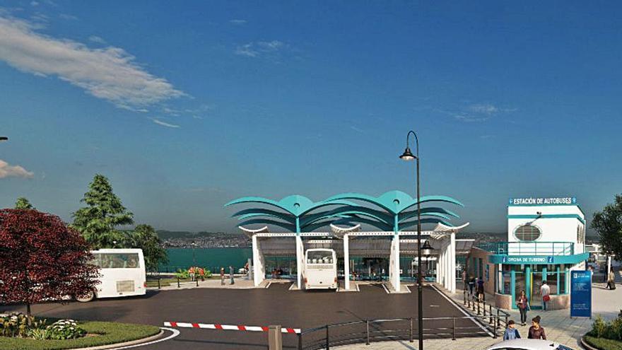 La terminal de tierra en el mar de Cangas