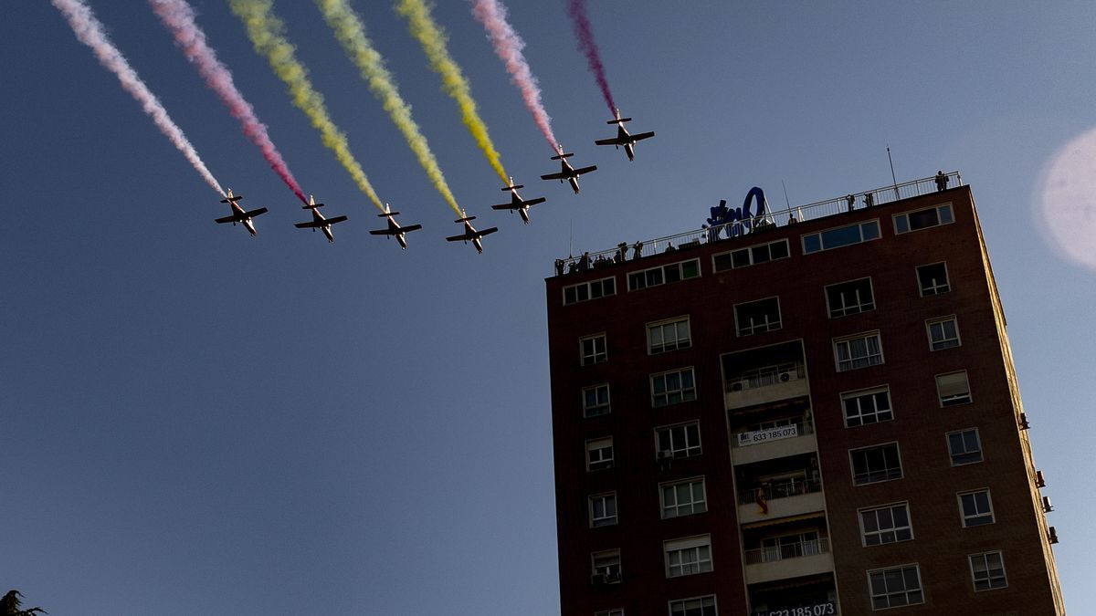 España volvió a recuperar el desfile militar y la recepción en Palacio Real en el Día de la Hispanidad tras la pandemia del coronavirus.