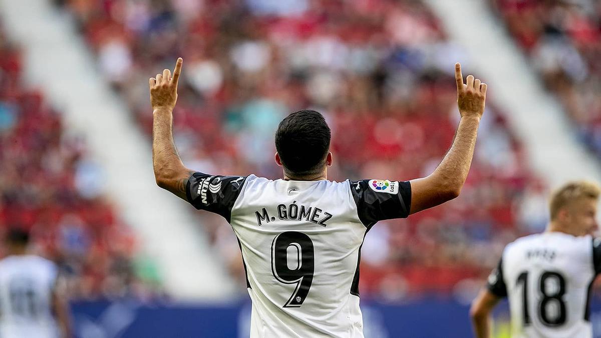 Maxi Gómez celebrando el tanto anotado