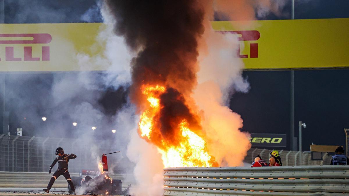 Grosjean roza la tragedia en Bahrein