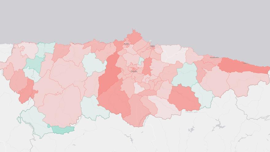 La incidencia del coronavirus barrio a barrio: el centro de Oviedo, Viesques en Gijón y el Carbayedo en Avilés, las zonas más castigadas