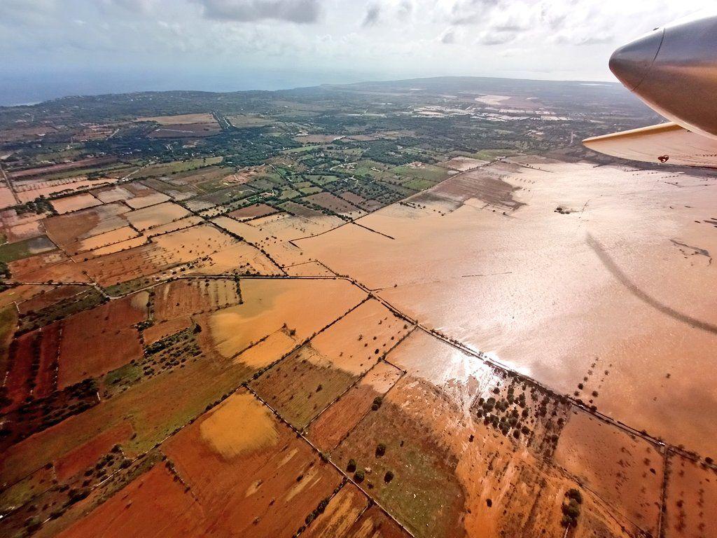 Die Überschwemmungen im Südosten - aus der Luft gesehen