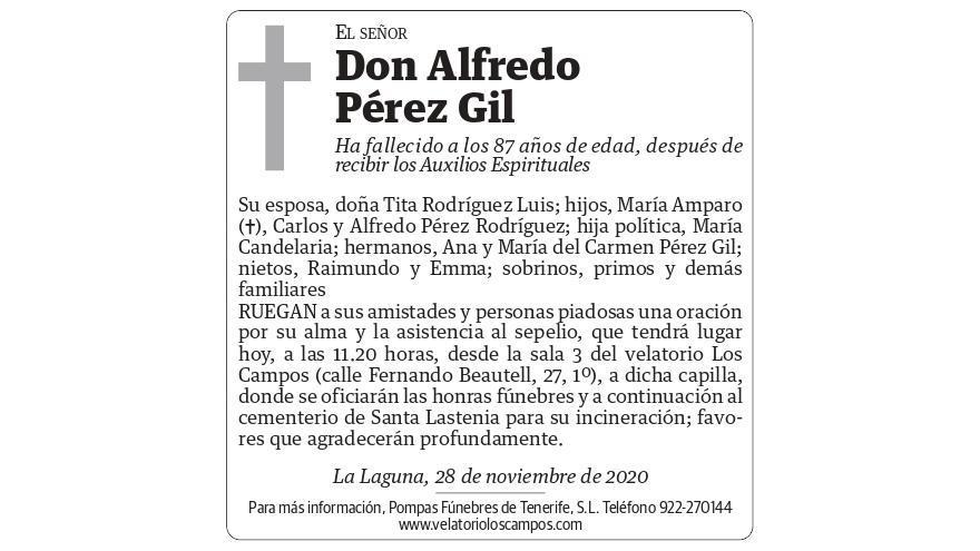 Alfredo Pérez Gil