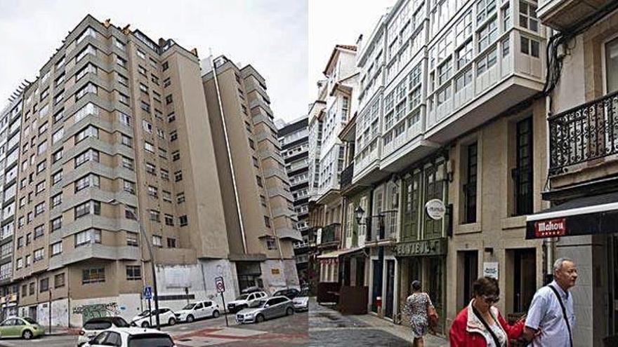 Monte Alto y Os Mallos son los barrios de la ciudad con mayor oferta de pisos turísticos