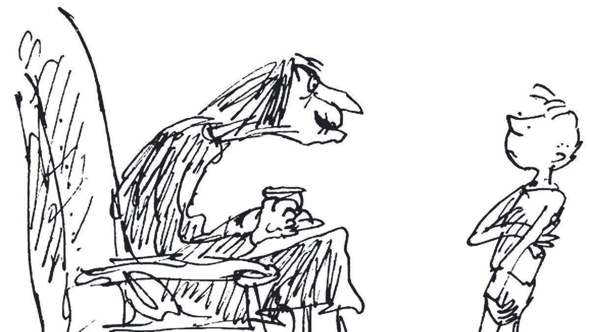 Ilustración de 'La Abuela', de Roald Dahl.