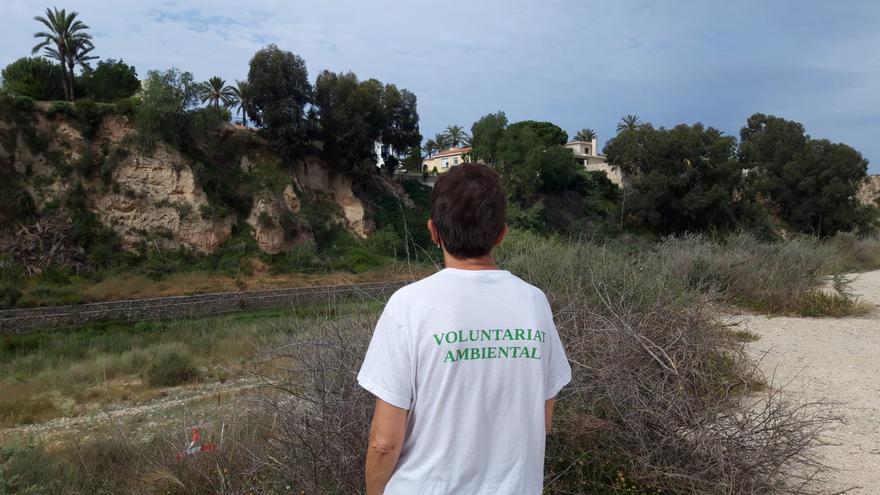 El voluntariado medioambiental de El Campello baliza el río Seco para llevar a cabo su limpieza este sábado