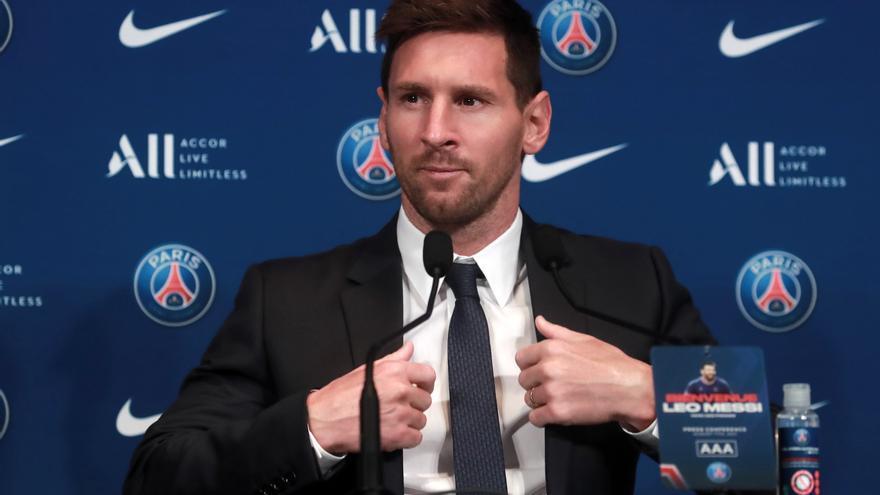 Presentación de Messi con el PSG