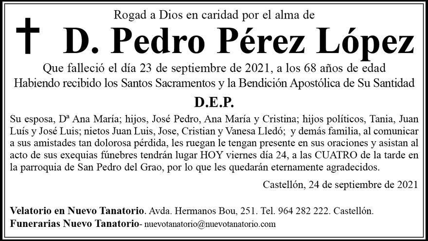 D. Pedro Pérez López