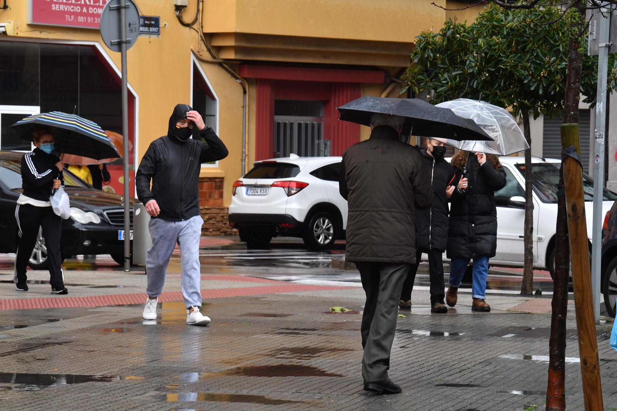 A Coruña inicia con lluvia la última semana de enero