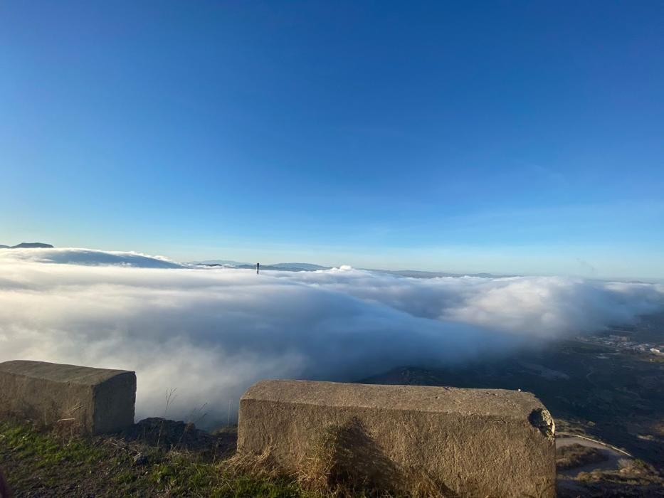 Un manto de niebla toma Cartagena