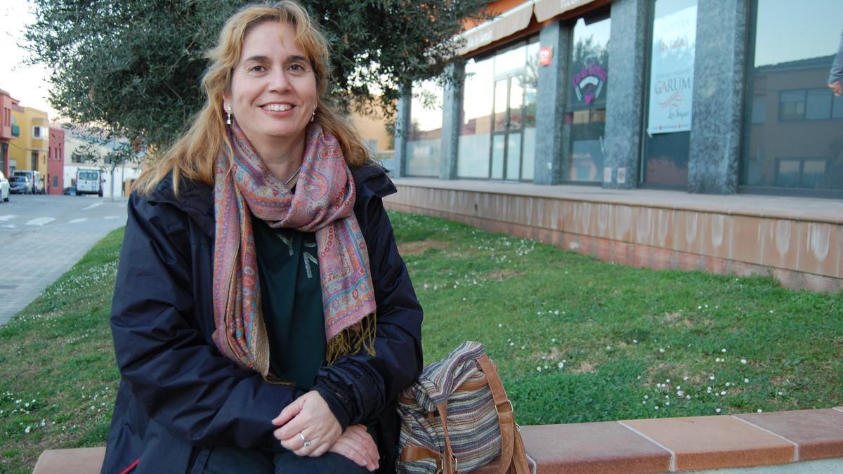 L'escriptora Maria Sánchez Cuenca