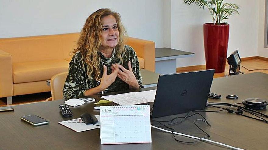 Carmela Silva, durante su intervención en la jornada.   | // FDV
