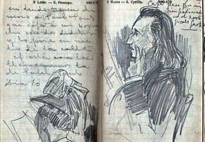 Cuaderno de viajes de los hermanos Palacios.