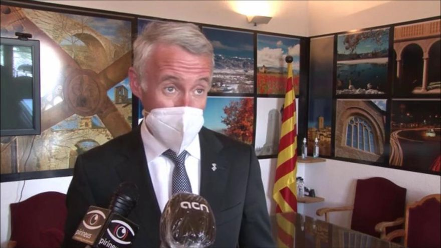 L'alcalde de Puigcerdà, Albert Piñeira, valora les mesures restrictives
