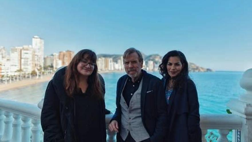 La directora Isabel Coixet rueda «Nieva en Benidorm»