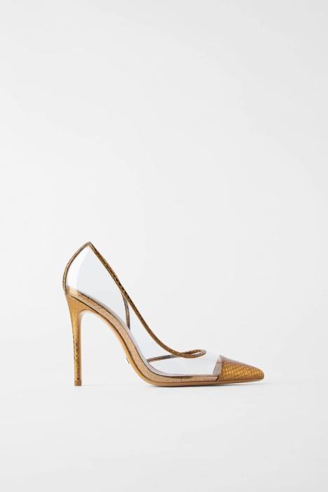 Zapato de vinilo transparente de Zara. (Precio: 35